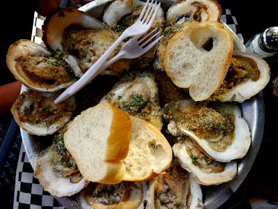 Charbroiled oysters, The Blind Pelican, New Orleans, Louisiana
