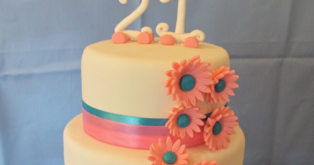 Pink Oven Cakes and Cookies: 21st Birthday cake