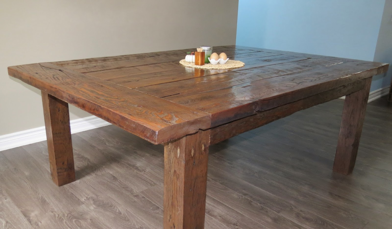 Yellow Cottage Furniture: Reclaimed Barn Wood Farmhouse Table
