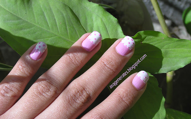 Half Moon Polka Dot Manicure