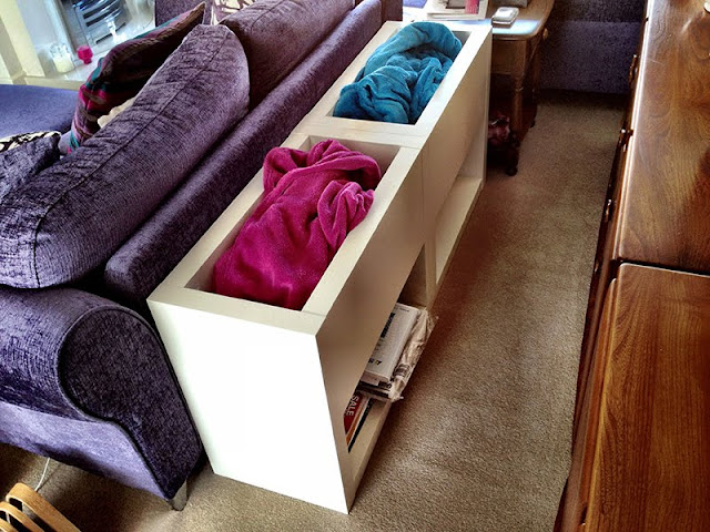 Sofa Fleece Blanket Bin and Magazine Storage