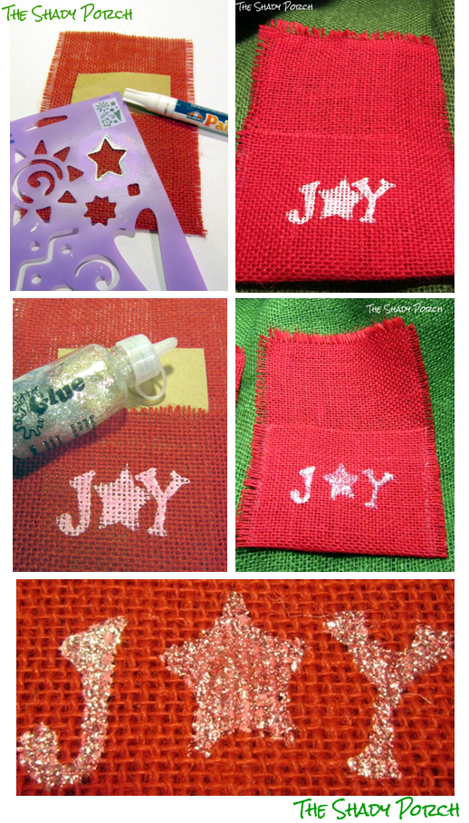 Joyful Burlap Silverware Holders #holiday #craft #tablesetting #tablescape