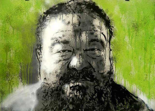 Ai Weiwei portrait artist wei spray paint russia china face