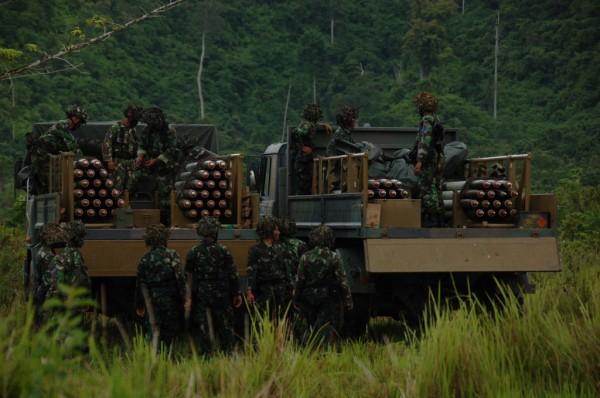 Latihan Gabungan (Latgab) TNI Tingkat Brigade Tahun 2012
