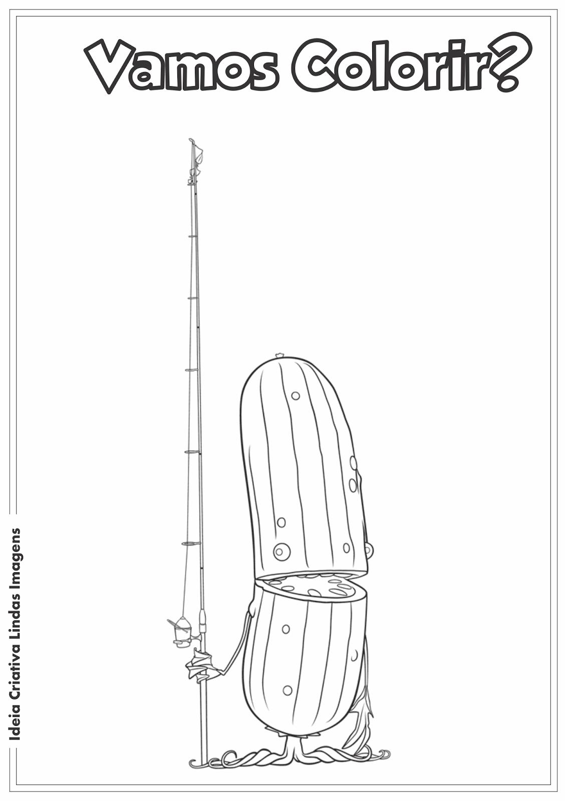 Desenho para colorir - Tá chovendo Hambúrguer