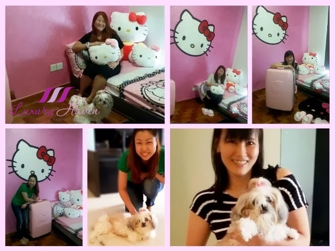 cute hello kitty room with her fans