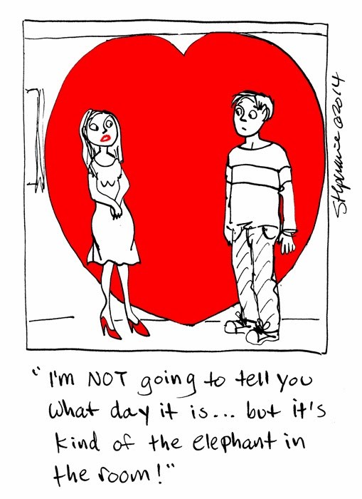 Stephanie Piro's Cartoon Blog: the 2014 Valentine's Day Cartoon ...