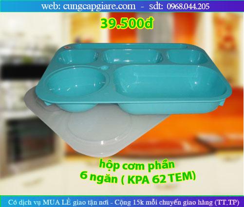 Hộp cơm phần 6 ngăn, , Khay cơm, Khay nhựa
