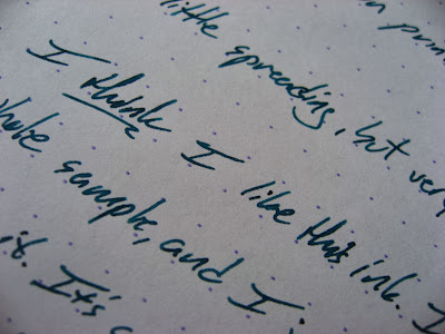 Eau de Nil Ink Review Diamine