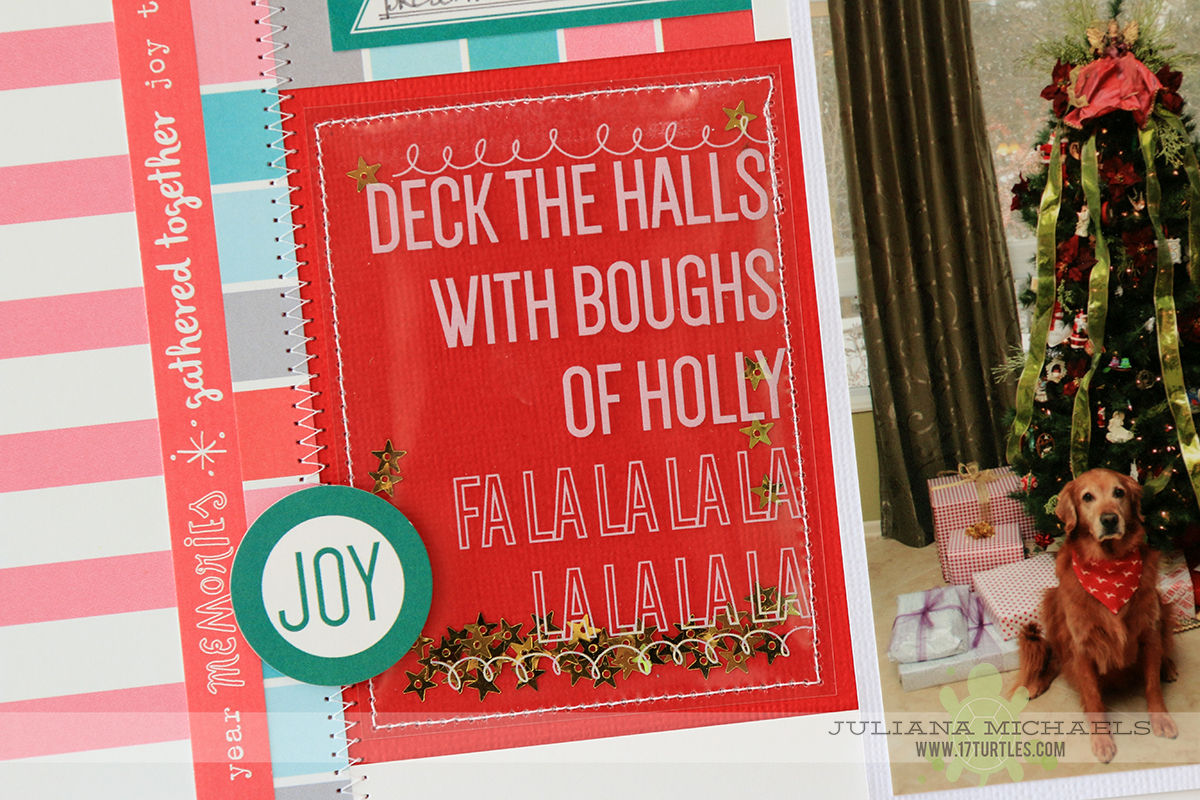 Christmas Scrapbook Page Ideas for Dogs by Juliana Michaels featuring Elle's Studio Good Cheer