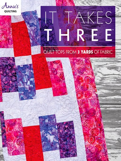 Beaches Quilt featured in the It Takes Three book