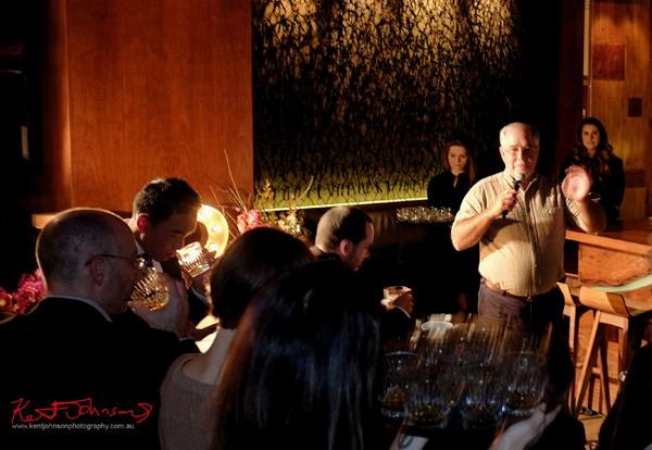 Eddie guides us through a tasting. Russell's Reserve 10 Year Bourbon at Grain Bar Sydney