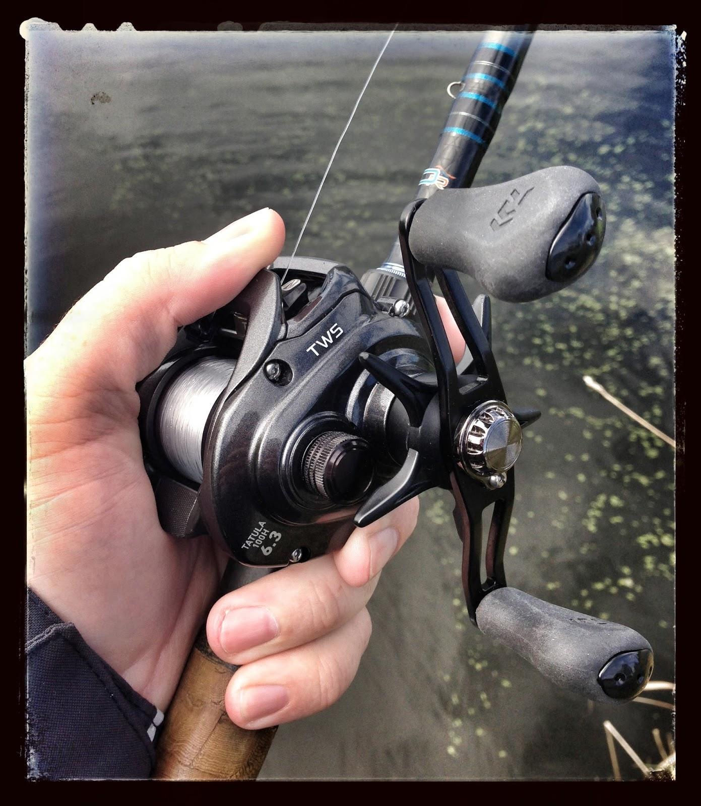 Bass junkies fishing addiction test drive daiwa tatula for Casting fishing reels