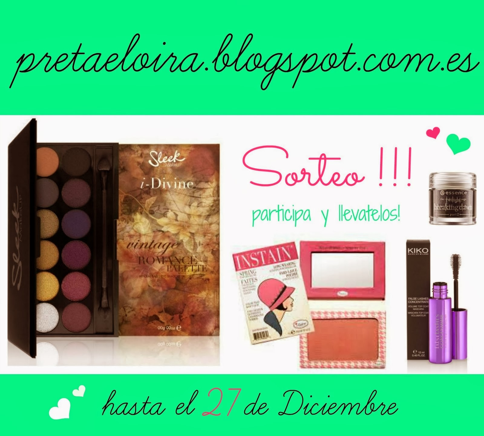 SORTEO 2: SLEEK, THE BALM..