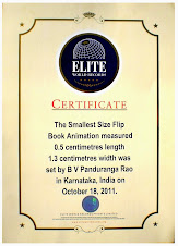 Smallest Flip Book in Elite World Records