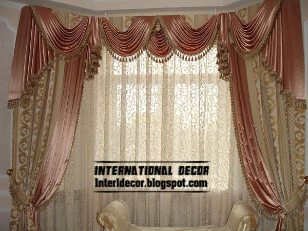 Contemporary Curtain Design With Satin Drapes, Latest Curtain Designs