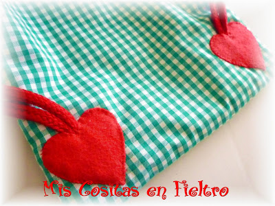bolsa, merienda, mochila, patchwork, fieltro, aplique, caperucita, lobo, little red riding hood, bag, foodbag