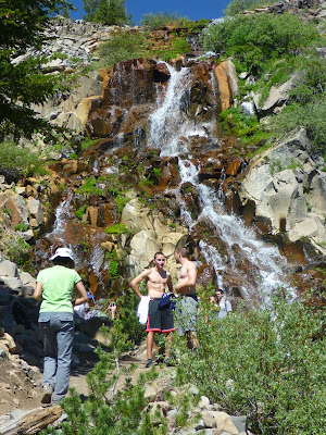 Waterfall along Tahoe Rim Trail northeast of Tamarack Peak