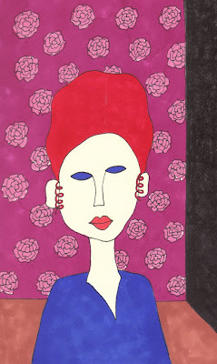 Amedeo Modigliani Inspired drawing of my mother