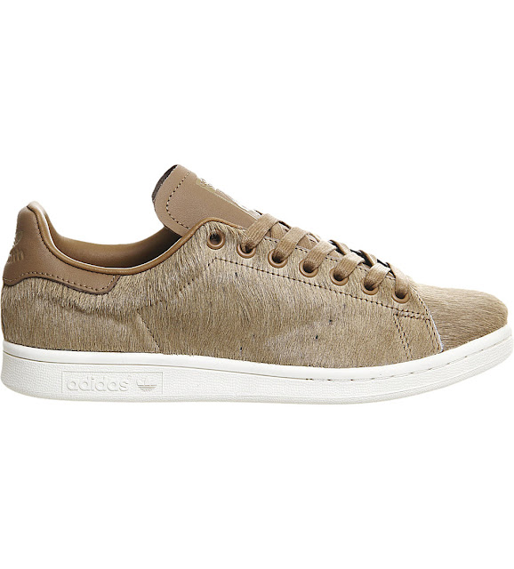pony hair trainers, adidas hairy trainers, stan smith camel trainers,