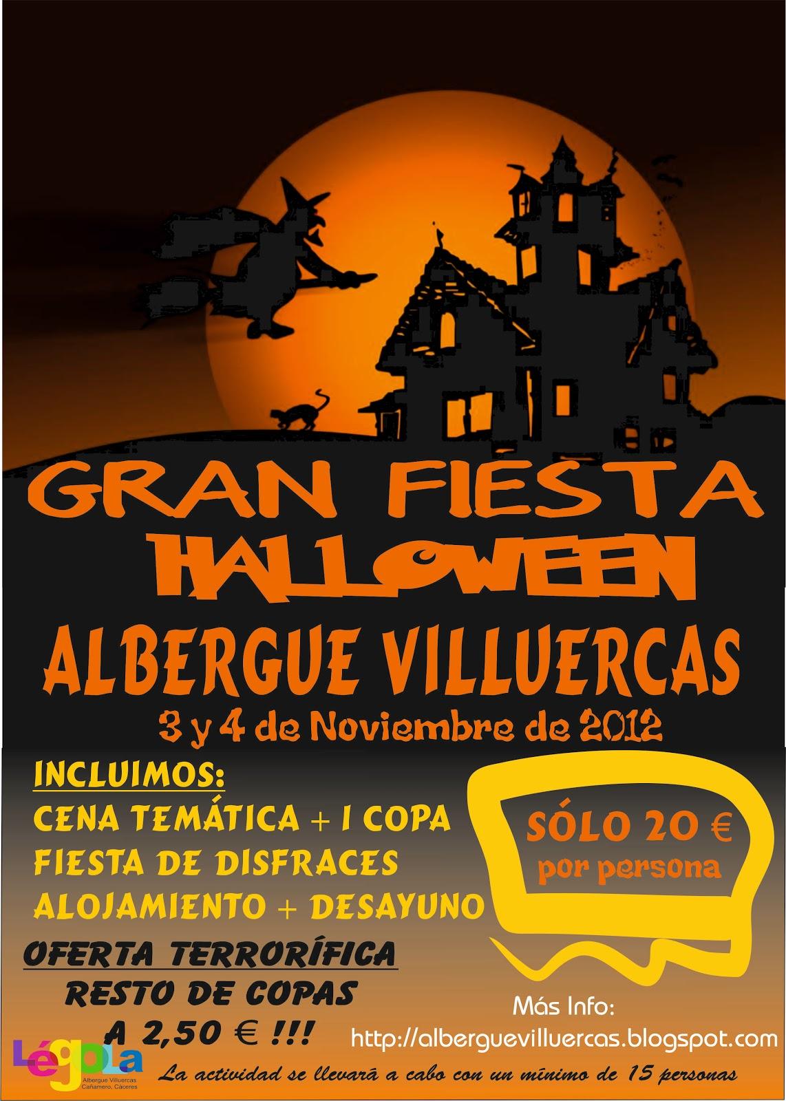 gran fiesta de halloween ~ abergue villuercas