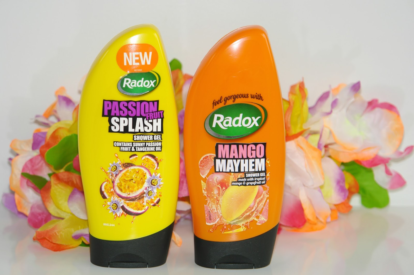 New Radox additions: Passion Fruit Splash and Mango Mayhem, shower gel,