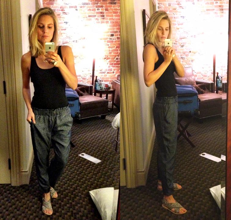 OOTD MBMJ Silk Floral Pants Selfie