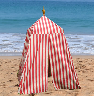 Old Fashioned Beach Tents