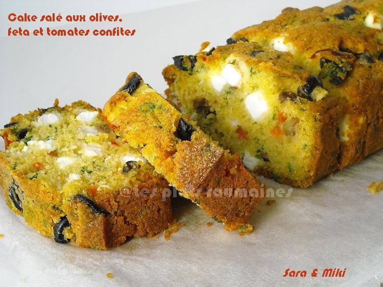 Cake Olives Feta Pignons