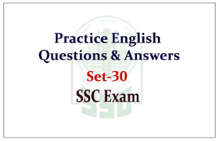 English Questions and Answer for Upcoming SSC Exam