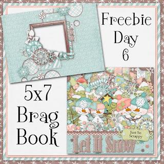 Let It Snow 5x7 Brag Book Freebie Day 6