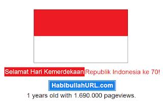 Selamat Hari Kemerdekaan Indonesia ke 70!