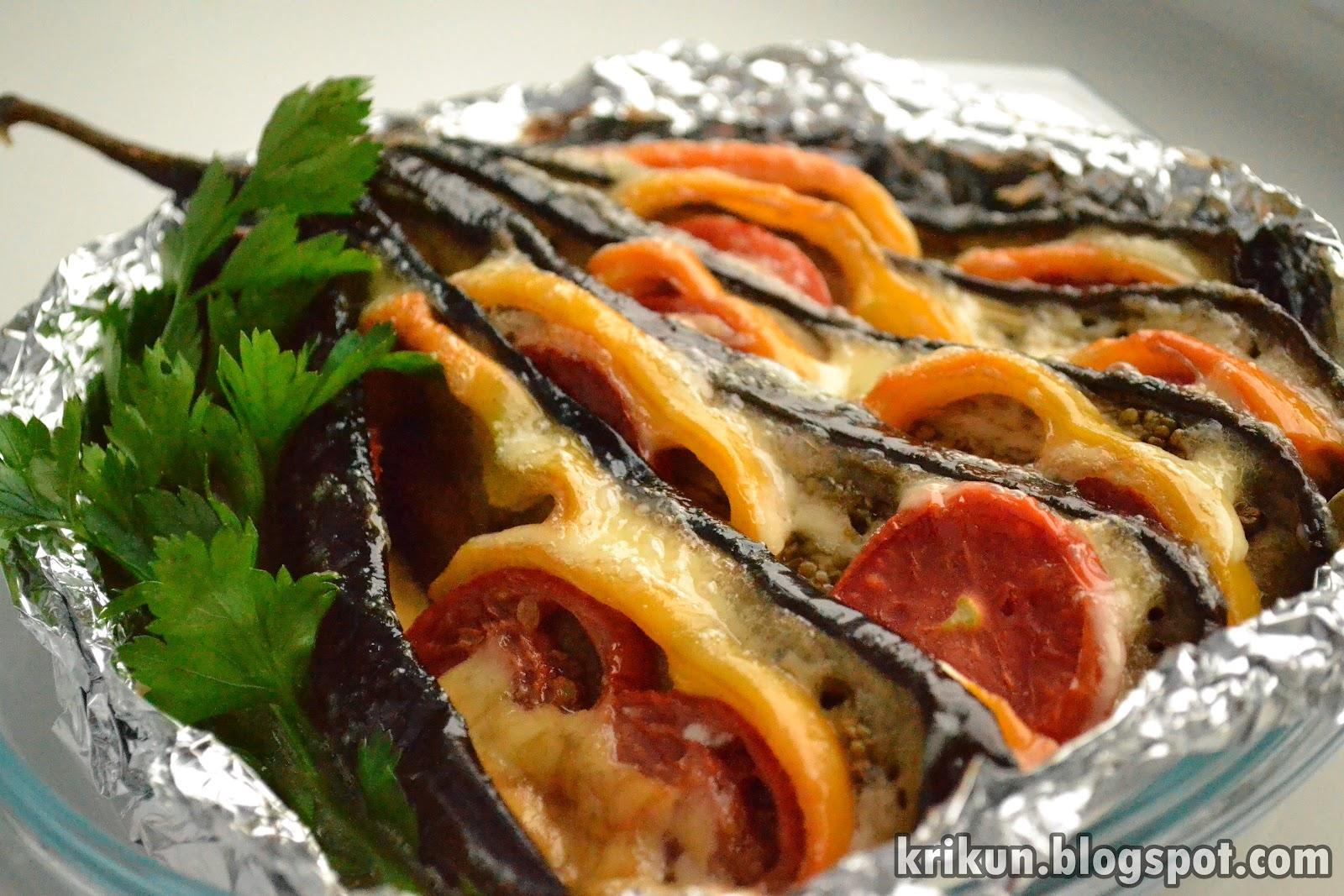Баклажаны запеканка с помидорами и сыром в духовке рецепт пошагово