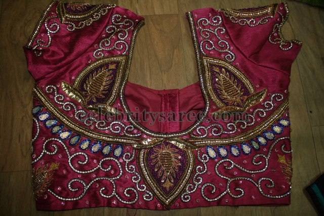 Embroidery Maggam Work Blouse Designs