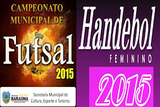 Resultados dos últimos jogos dos campeonatos de Handebol e Futsal de Baraúna