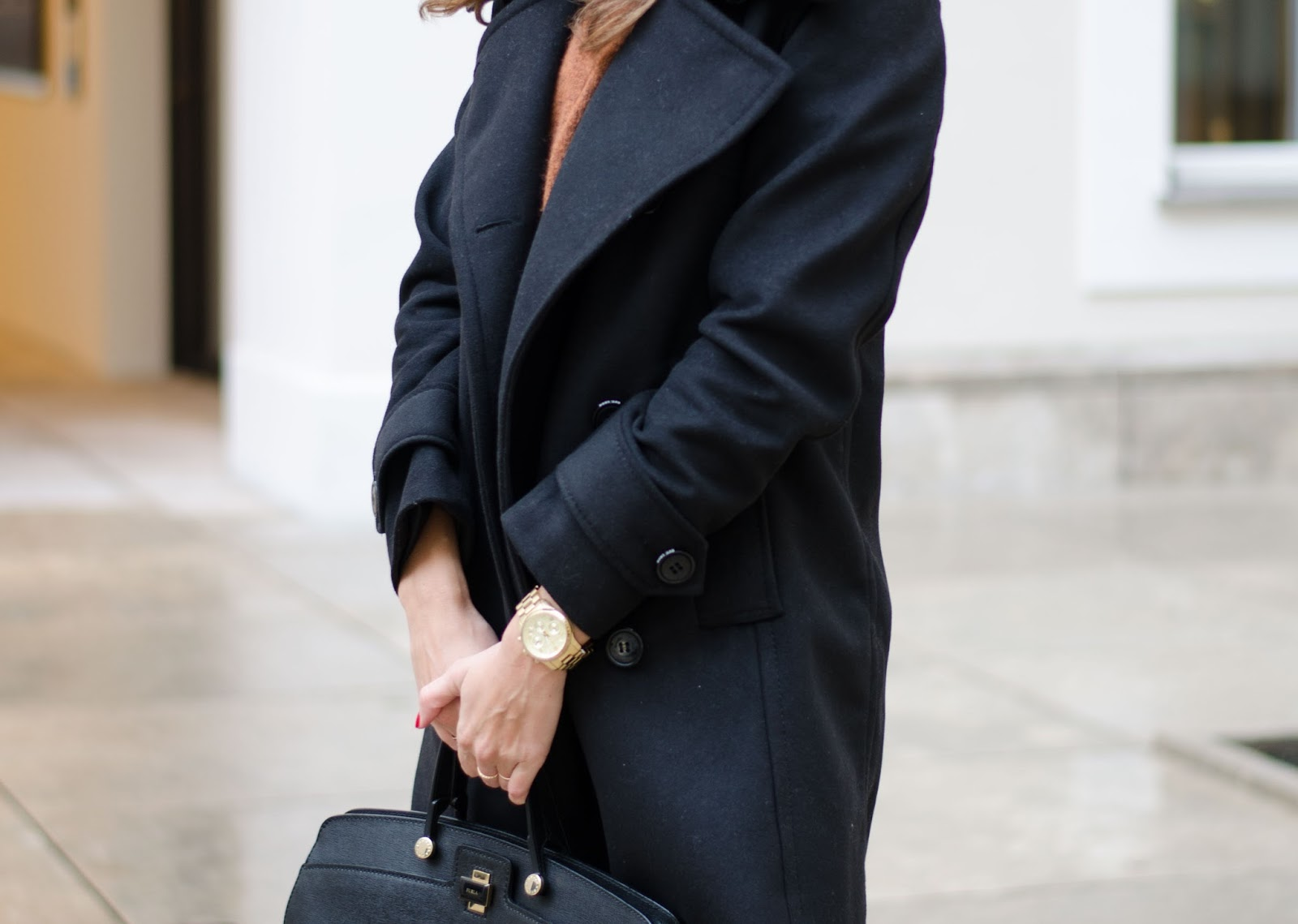 kristjaana mere lindex black pea coat fall outfit look fashion