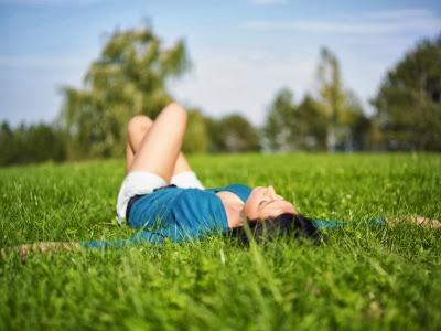 štěstí, spokojenost, život, tráva, příroda