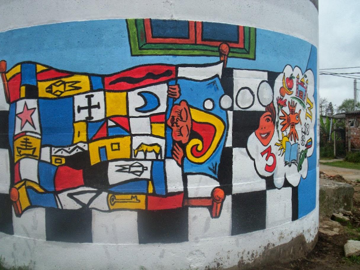 Arte en la escuela intervenciones artisticas 2 do mural for Arte colectivo mural
