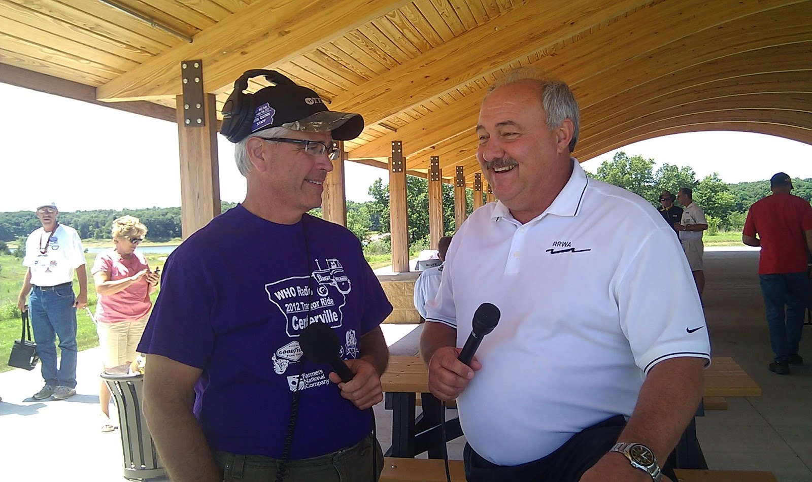 rathbun land water alliance archived activities at left who radio s bob quinn host of the big show interviews rathbun regional water association ceo and rlwa president john glenn