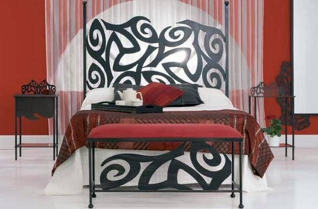 Decoraci n de cuartos dormitorios alcobas habitaciones for Cuarto negro y rojo