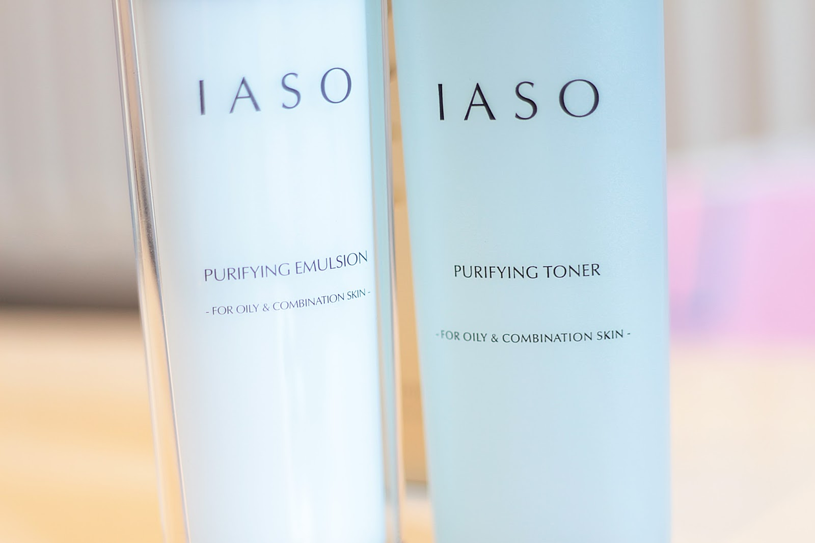 IASO korean skincare brand - review of their purifying toner and purifying emulsion