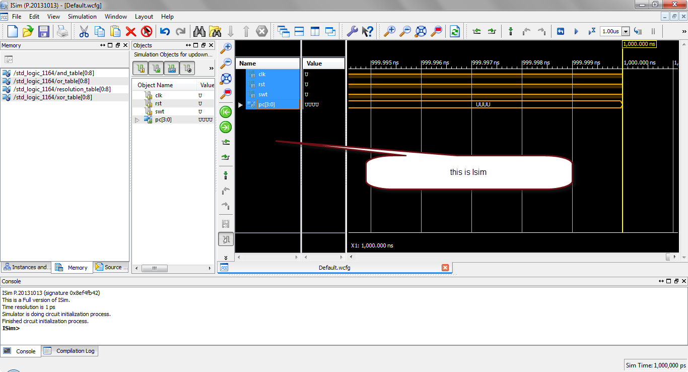 how to simulate vhdl code in xilinx?15