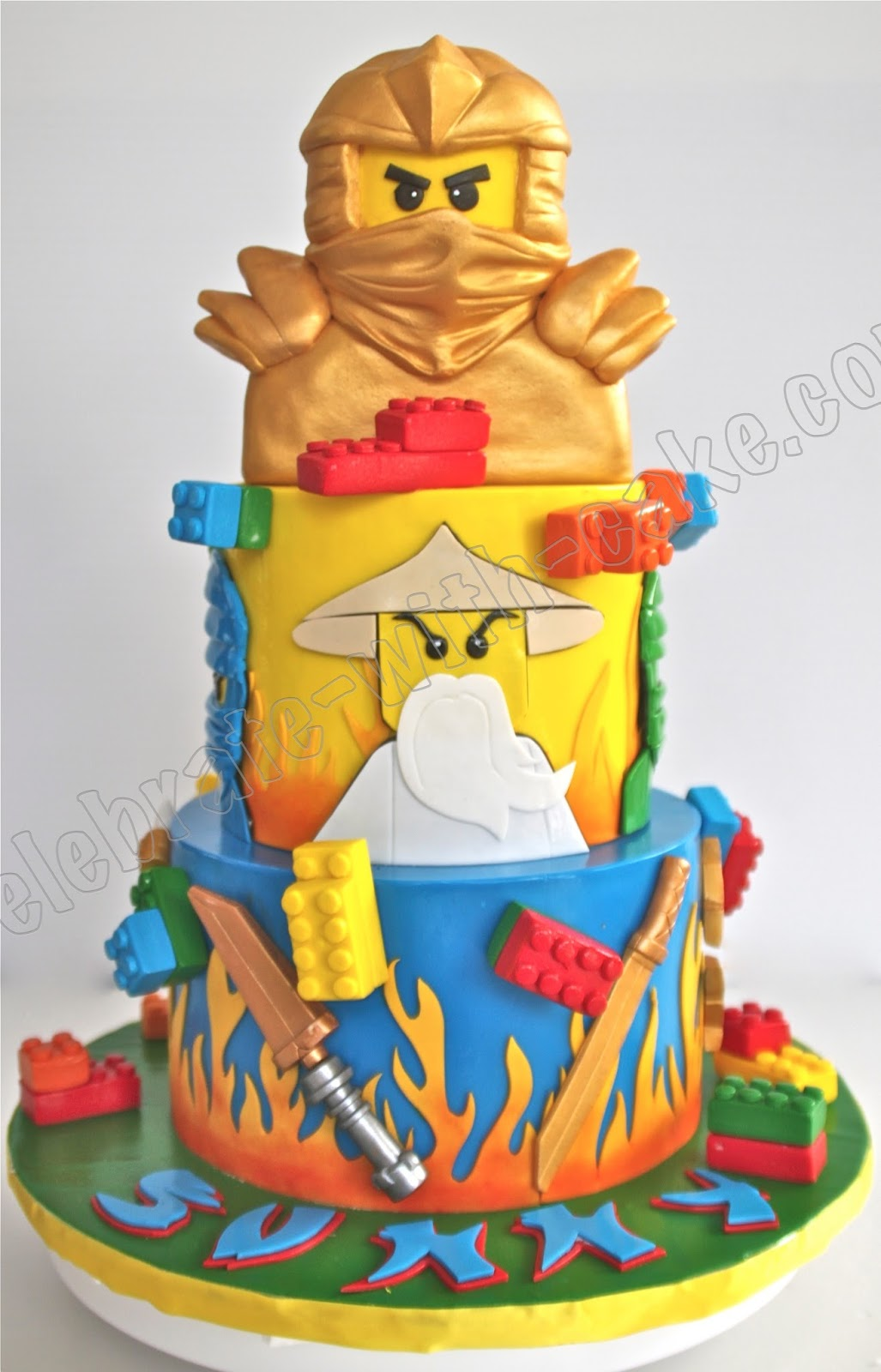 Celebrate with cake lego ninjago tier cake for Anpanman cake decoration