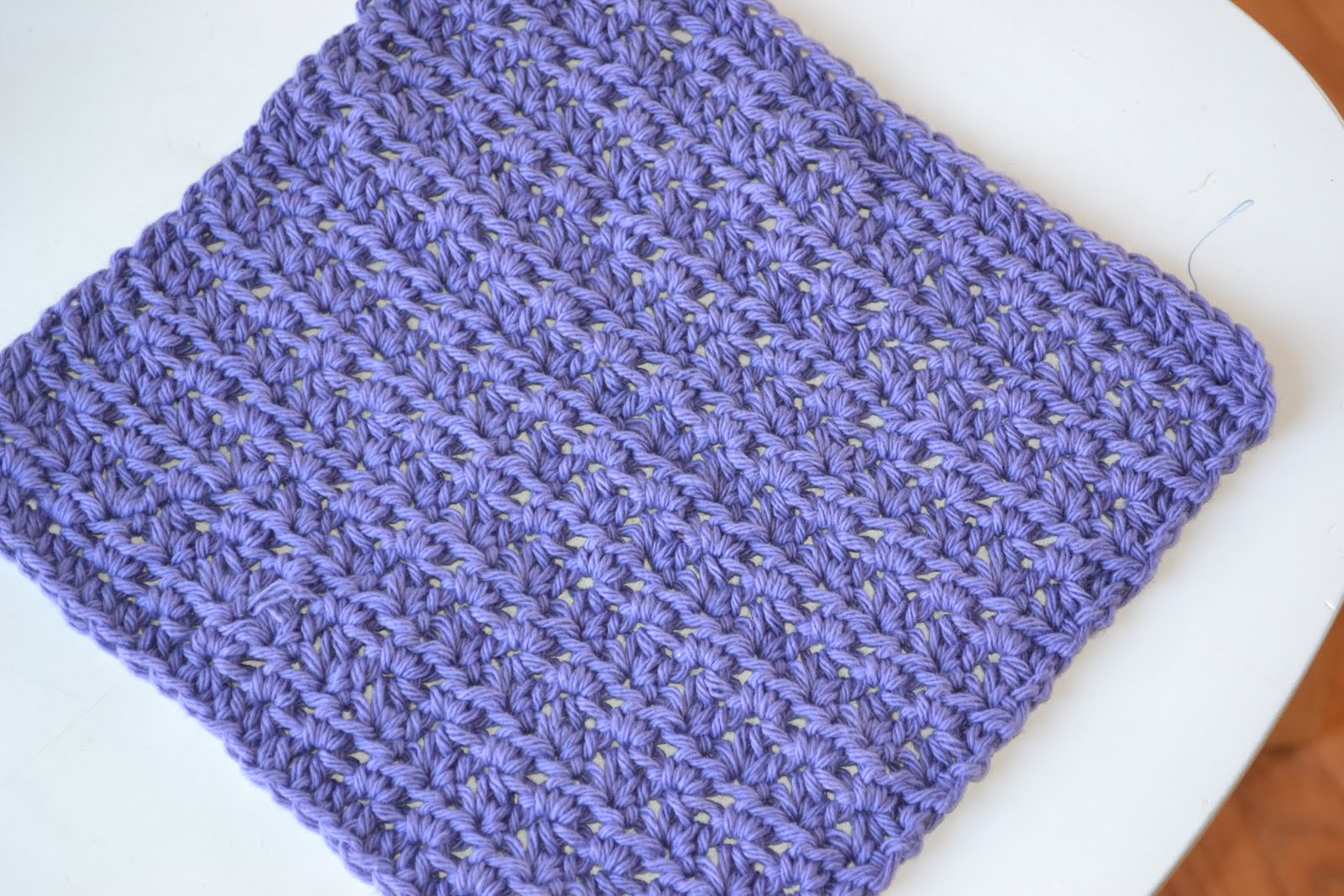 Free Crochet Pattern For Easy Dishcloth : Crochet in Color: Dishcloth Pattern