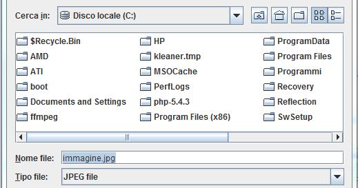 Domande e risposte su java creare una finestra di scelta file con jfilechooser - Creare finestra popup ...