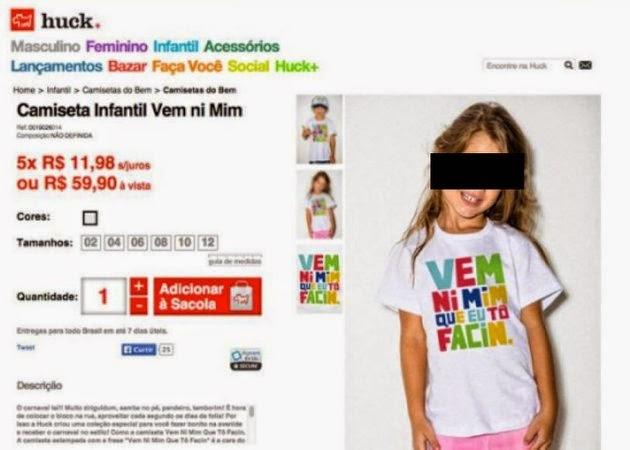 Luciano Huck faz apologia de pornografia infantil em camiseta