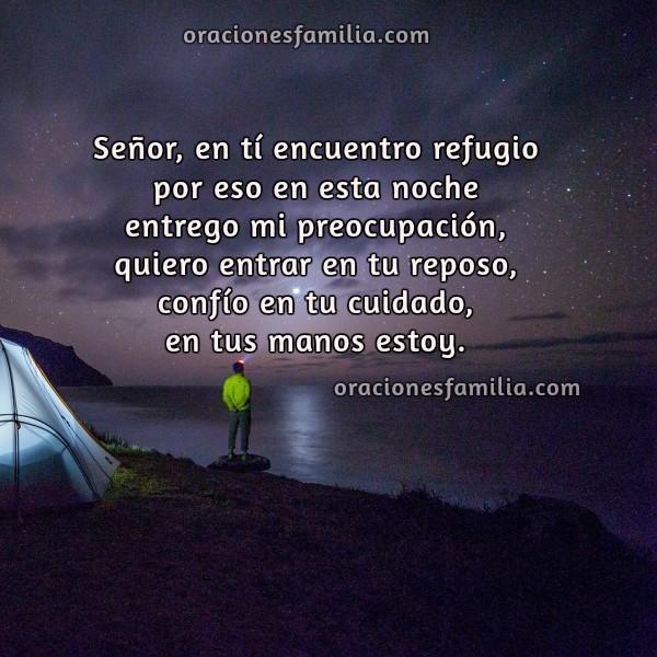 Oración cristiana corta de la noche, Frases de descanso, duermo tranquilo, Dios está conmigo, buenas noches con oraciones de familia por Mery Bracho.