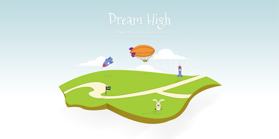 Free Dream High - Simple Blogger Template