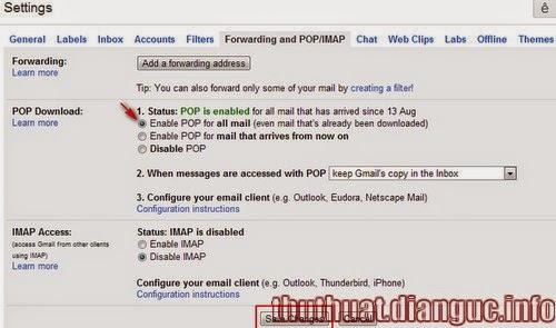 Cách chuyển tiếp toàn bộ mail từ Gmail cũ sang Gmail mới đăng ký