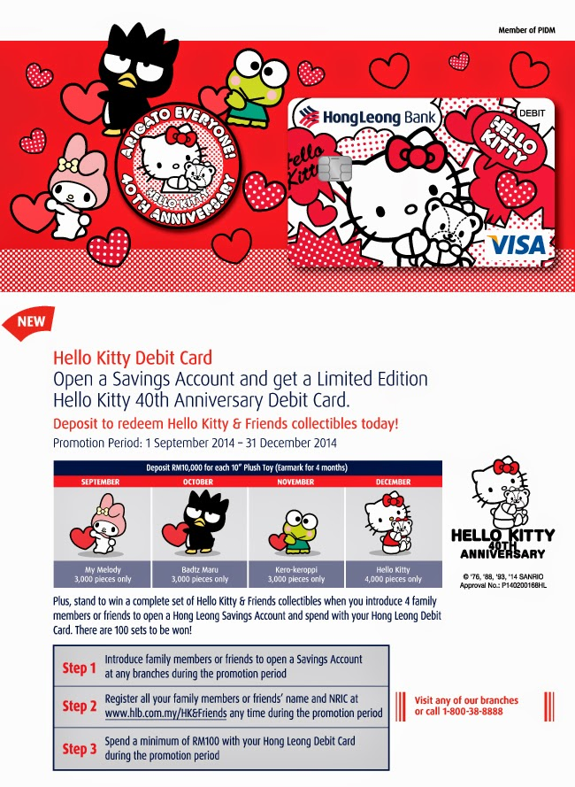 Hello Kitty 40th Anniversary Debit Card